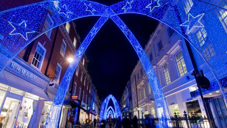 Blue arc Christmas Lights