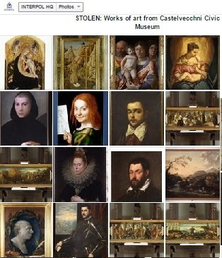 Stolen masterpieces from Castelvecchni Civic Museum-group paintings